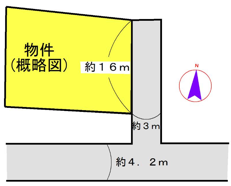 松阪市櫛田町 間取図・土地図