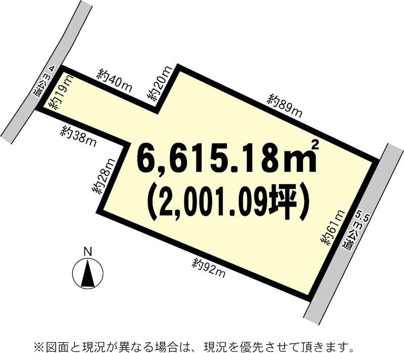 土浦市東若松 土地 間取り図