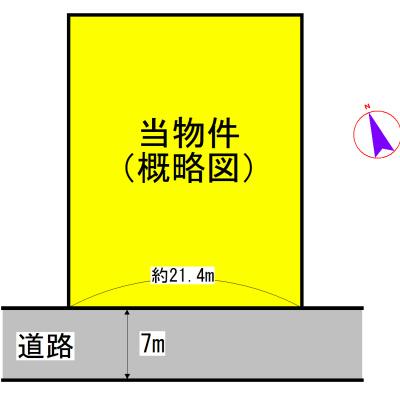 目田町 間取図・土地図