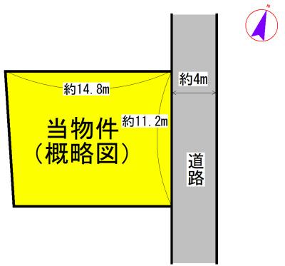 松阪市上川町 間取図・土地図