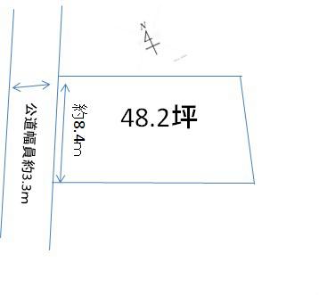 三重県亀山市南野町 間取図・土地図