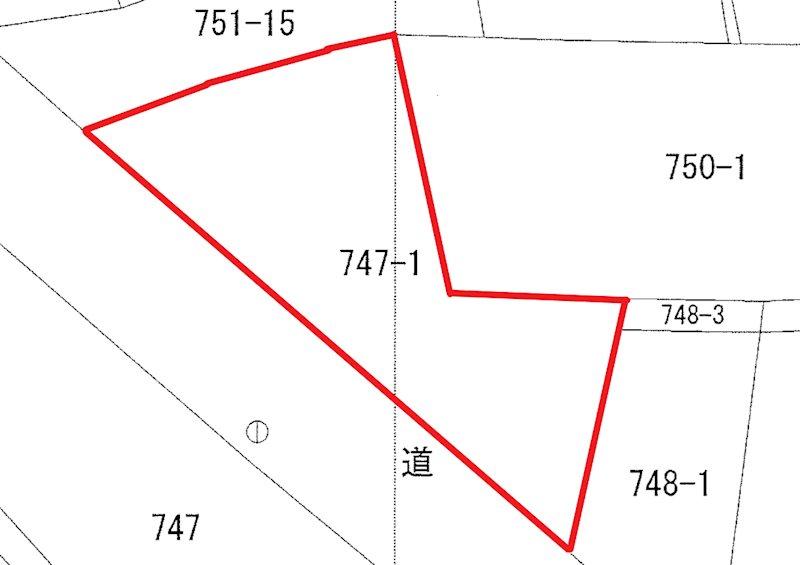石名坂町1丁目747番1 間取図・土地図