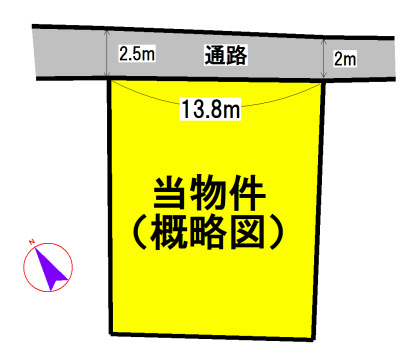 松阪市御殿山町 間取図・土地図