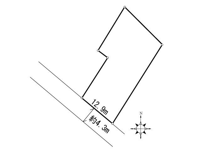 篠崎三丁目土地 間取り図