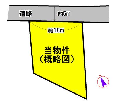 東黒部町 間取図・土地図