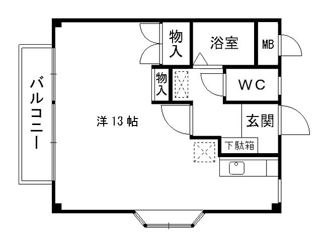 石田売アパート2棟 間取り図