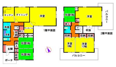 川井町 間取り図