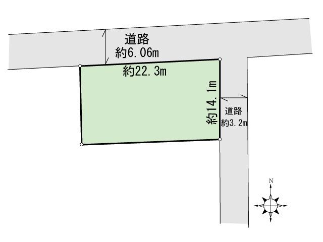 泉台一丁目2番土地 間取り図