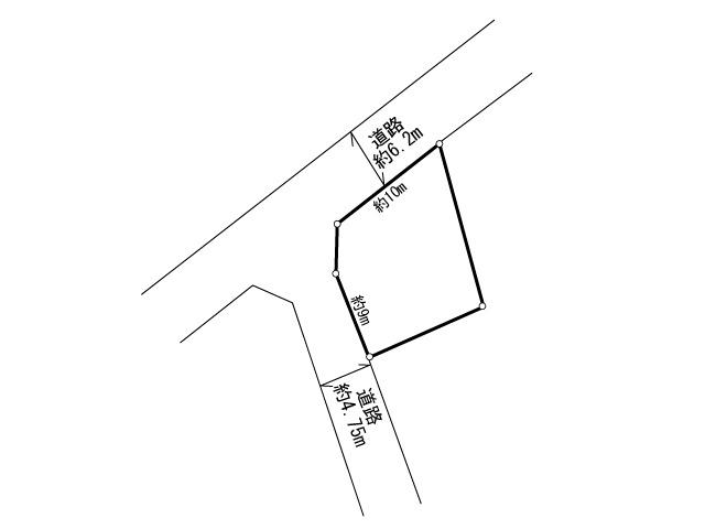 道場寺385土地 間取り図