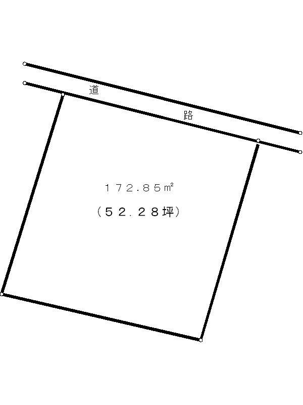 岐阜県多治見市大針町 間取図・土地図