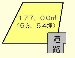 岐阜県多治見市坂上町1丁目 間取図・土地図