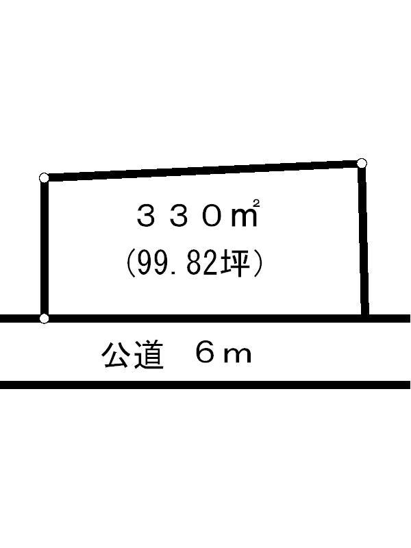 岐阜県多治見市赤坂町8丁目 間取図・土地図