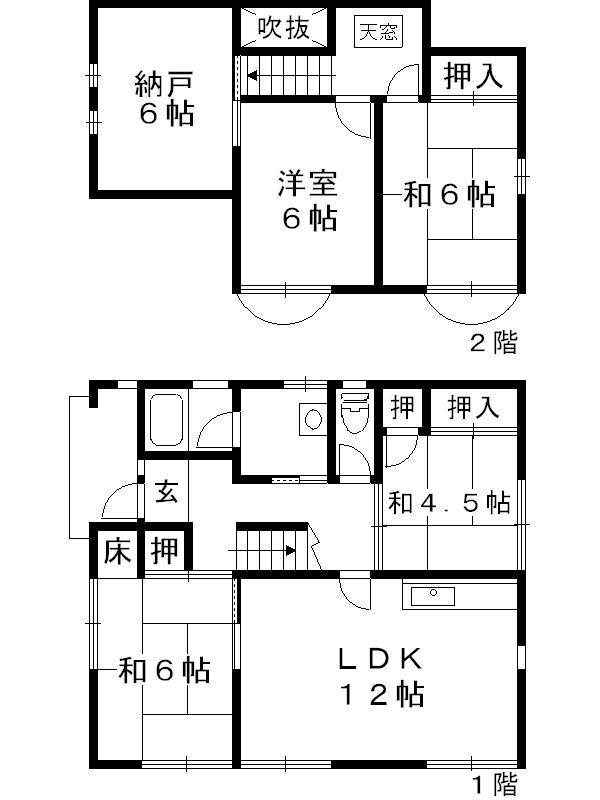 岐阜県多治見市小名田町小滝 間取図・土地図