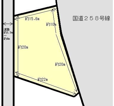 桑名市安永 間取図・土地図