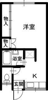 正法寺の収益物件 間取り図