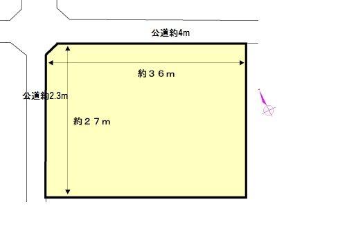 北勢町麻生田 間取図・土地図