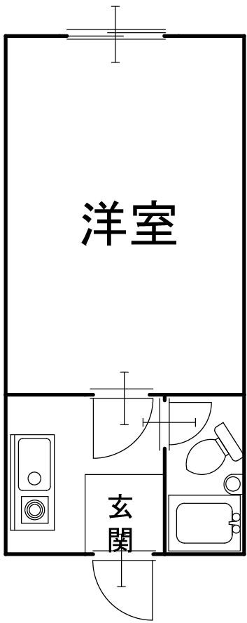 豊岡市正法寺の収益物件 間取り図