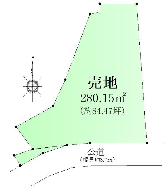 田浦町3丁目売地 間取り図