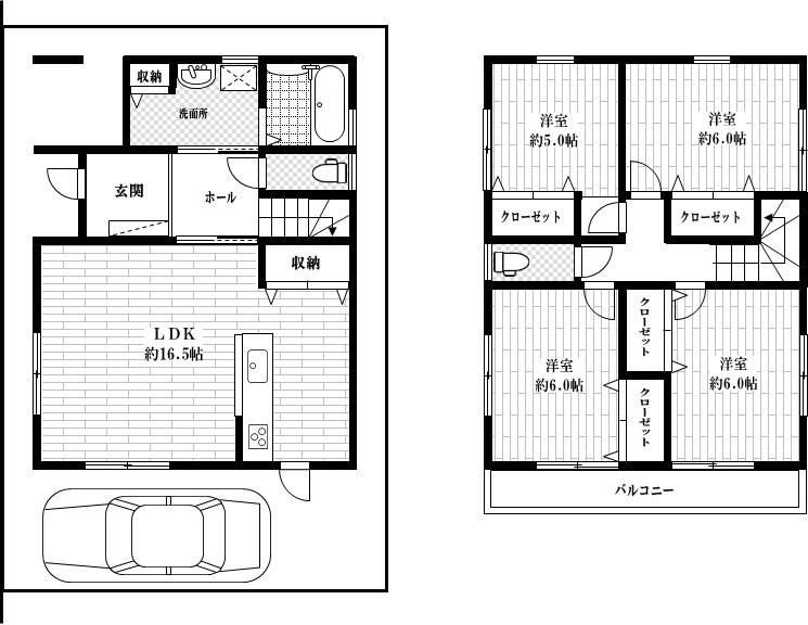 茨木市鮎川1丁目 建築条件付土地 3号地 間取り図