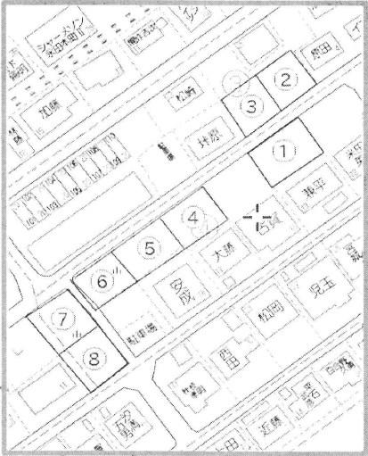 永田本町 8区画 間取り図