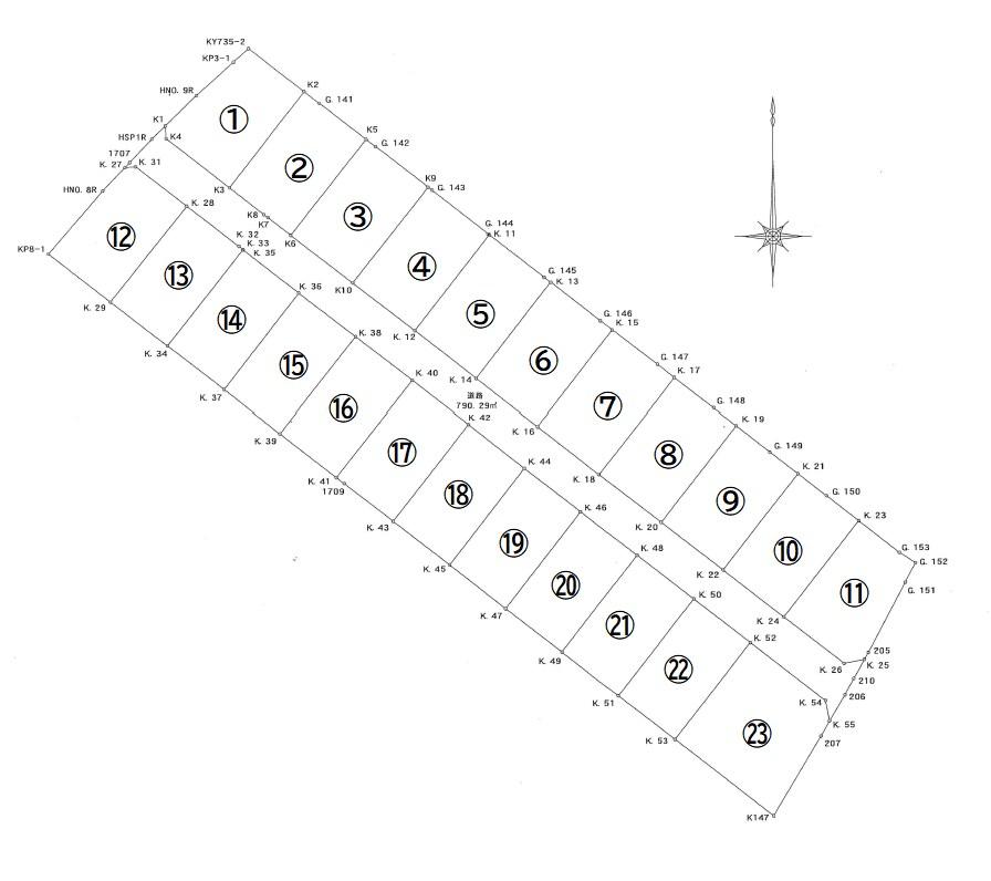 川棚字三の浜 残20区画 間取り図