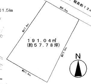 久慈町5丁目88番 間取図・土地図