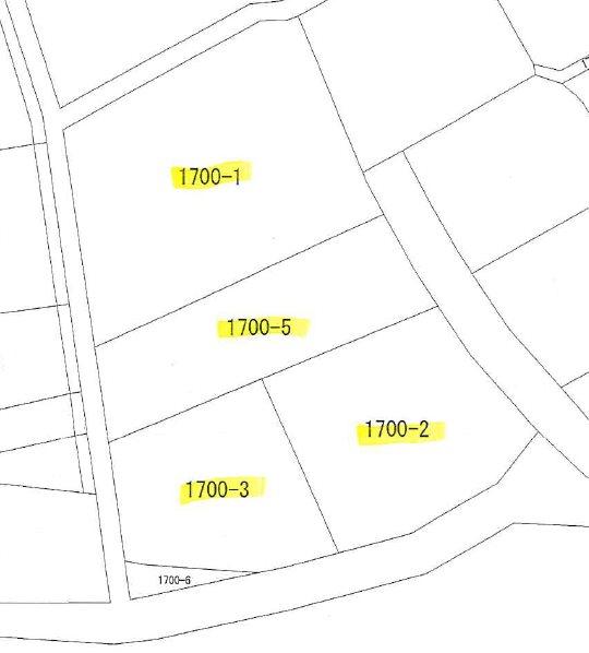 高萩市島名1700番1 間取図・土地図