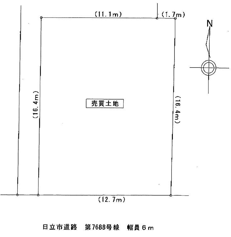 大みか町3丁目241番 間取図・土地図