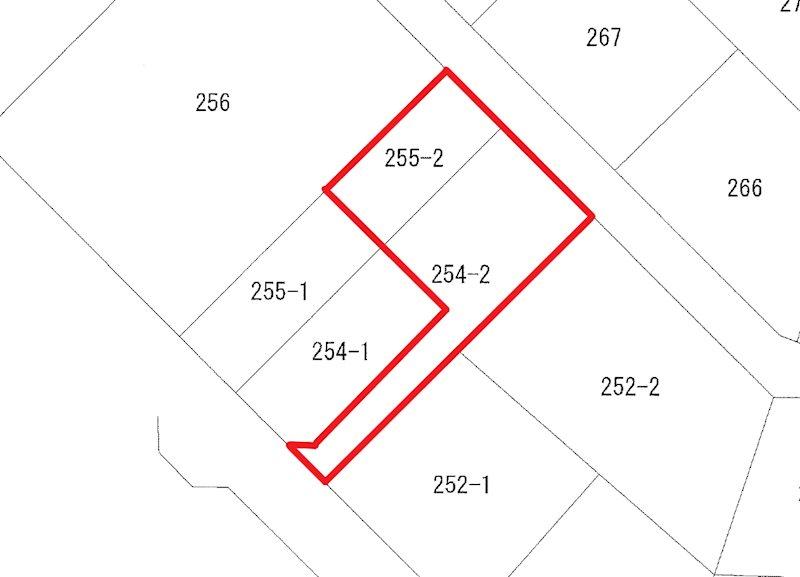 川尻町7丁目254番2、255番2 間取図・土地図