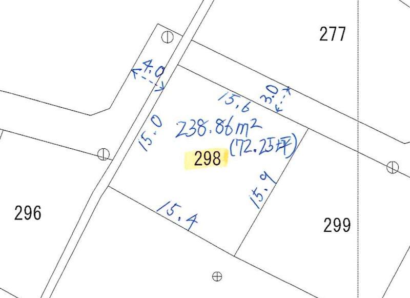 鮎川町6丁目298番 間取図・土地図