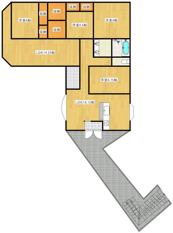田尻町3丁目908番地9 間取図・土地図