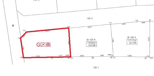 石名坂町1丁目2期 G区画 間取図・土地図