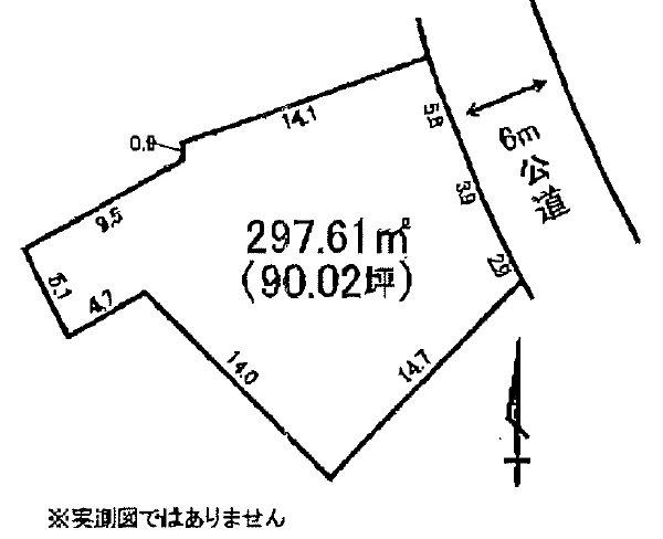河原子町3丁目3046番、3045番5 間取図・土地図