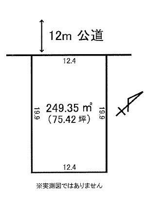 東海村大山台1丁目12番12、13 間取図・土地図