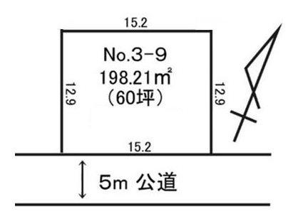 東海村村松字平原3082番9 間取図・土地図