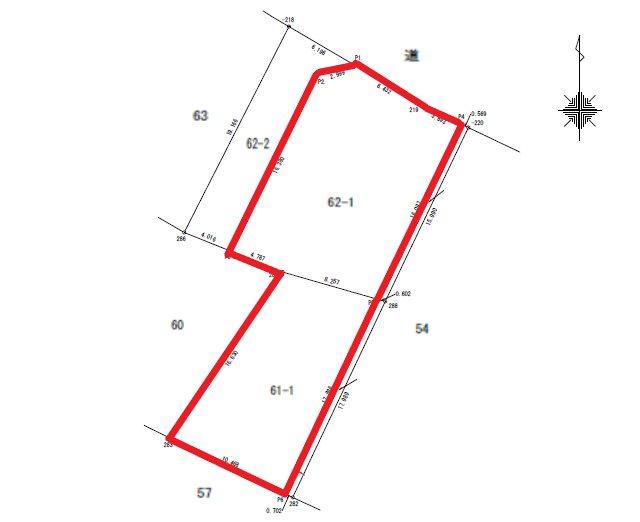 白銀町2丁目61番1、62番1 間取図・土地図