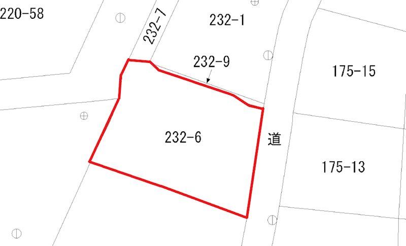 石名坂町1丁目232番6 間取図・土地図