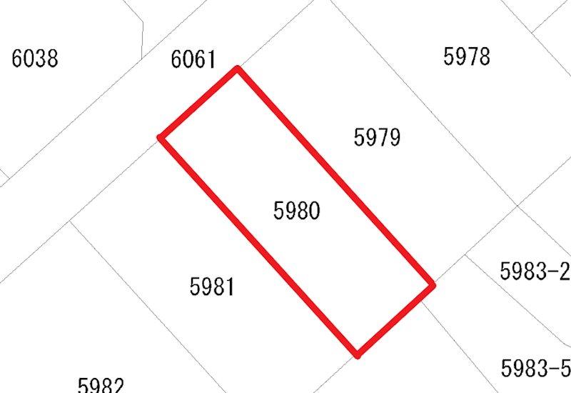 久慈町6丁目5980番 間取図・土地図