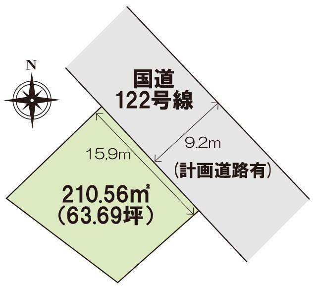 桐生市広沢町 土地 間取り図