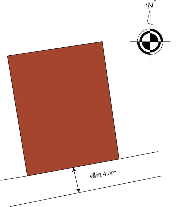 松山市祝谷東町 土地 間取り図