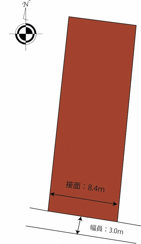 松山市元町 土地 間取り図