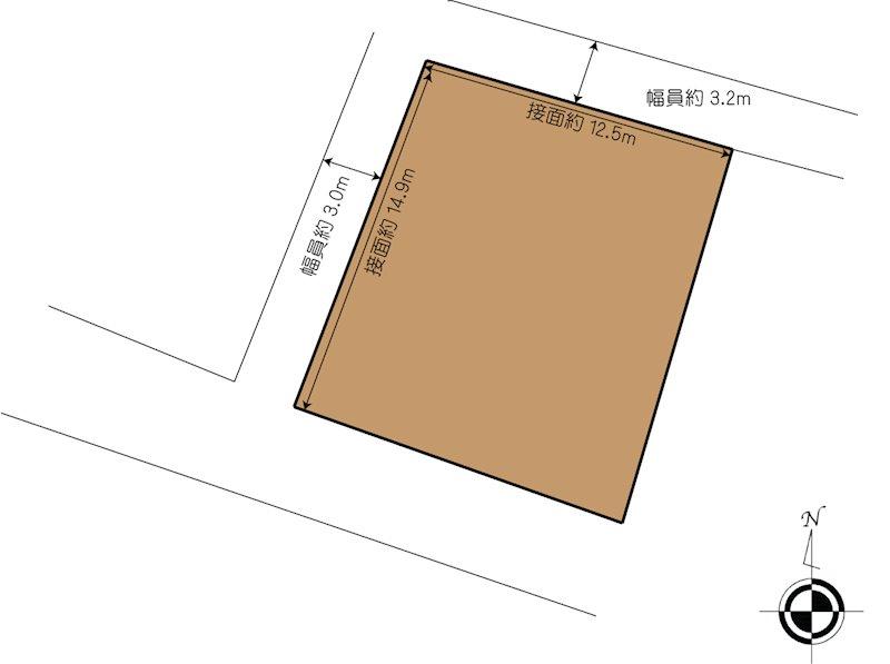 松山市中西内 土地 間取り図