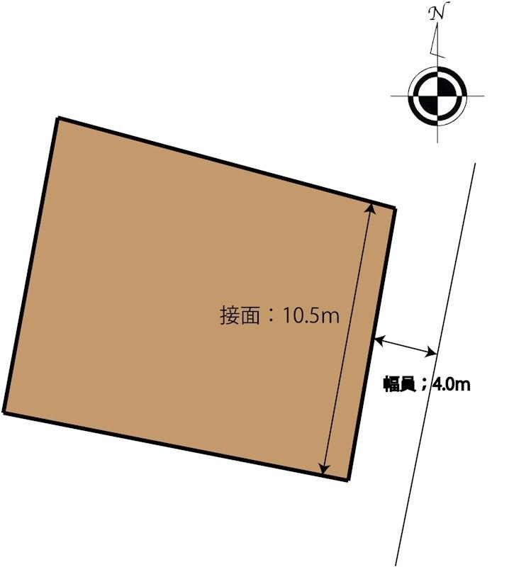 松山市中野町 土地 間取り図