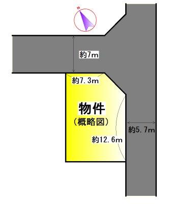 松阪市駅部田町 間取図・土地図