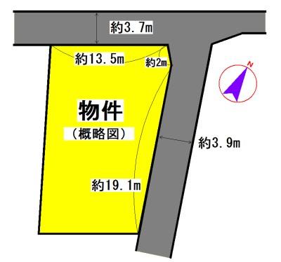 浦口3丁目 間取図・土地図
