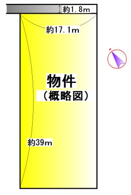 小俣町湯田 間取図・土地図