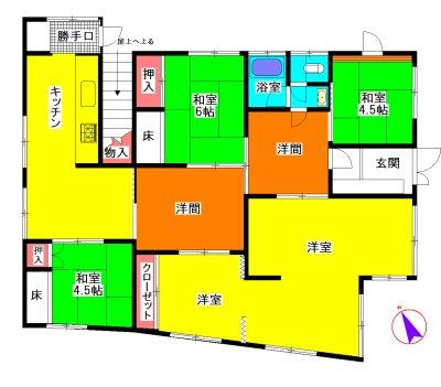 松阪市南町 間取図・土地図