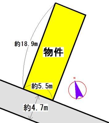 西町 間取図・土地図