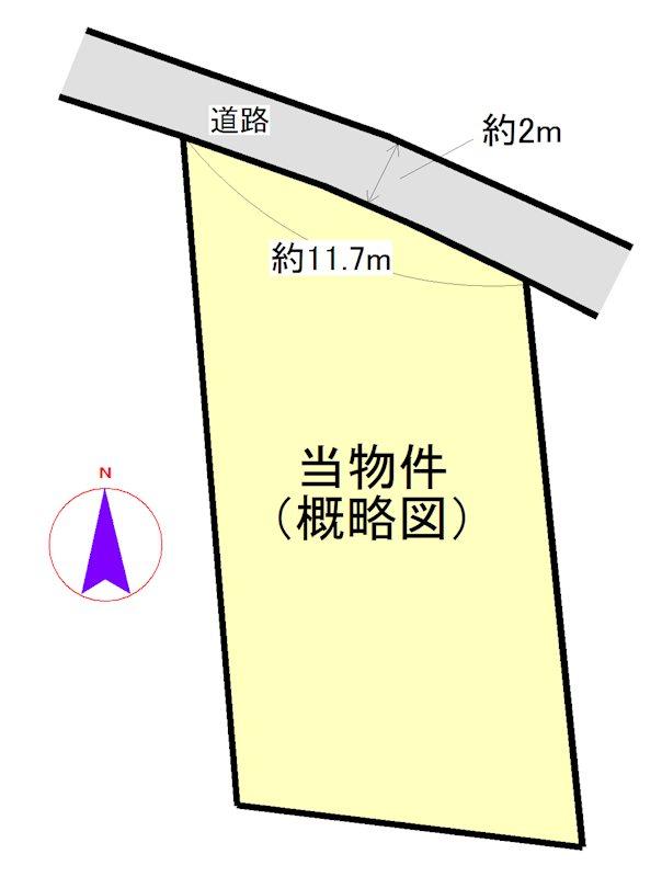 二見町荘 間取図・土地図