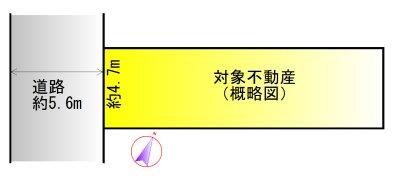 伊勢市岡本二丁目 間取図・土地図